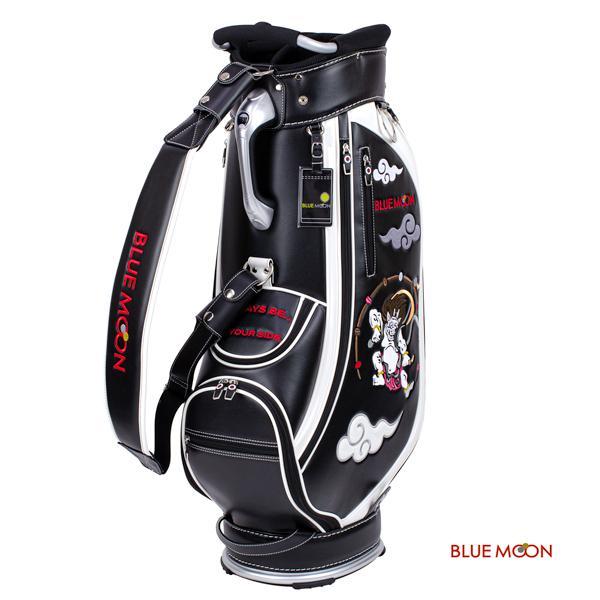 ブルームーン キャディバッグ 2021年モデル 風神雷神 C13-BMF ブラック  9型|golfers|04