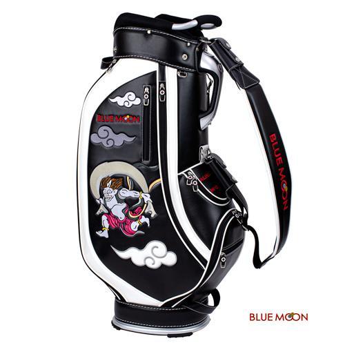 ブルームーン キャディバッグ 2021年モデル 風神雷神 C13-BMF ブラック  9型|golfers|05
