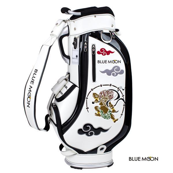 ブルームーン キャディバッグ 2021年モデル 風神雷神 C13-BMF ホワイト  9型 golfers 02