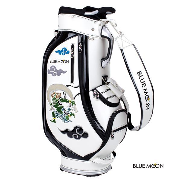 ブルームーン キャディバッグ 2021年モデル 風神雷神 C13-BMF ホワイト  9型 golfers 07