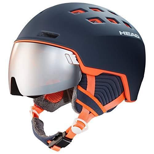 【送料込】 HEAD(ヘッド) スキー スノーボード ヘルメット レディース向け レーダー バイザー付き ブルーサーモン XS/S 323539, Eleva a38f2f42