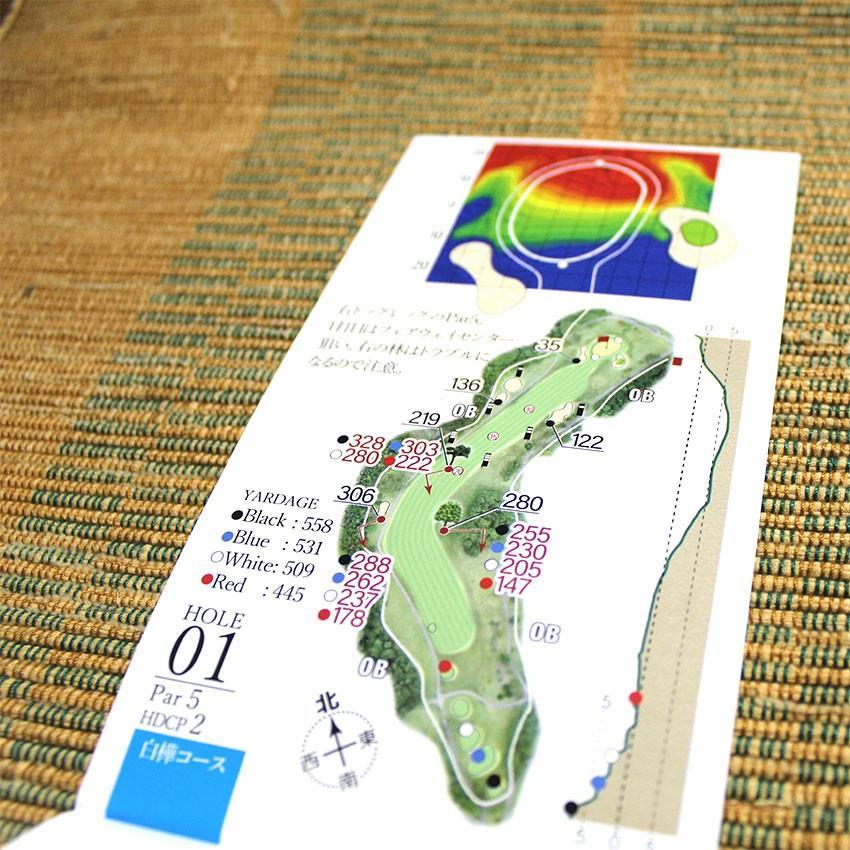 【送料込み】ヤーデージブック ニュー軽米カントリークラブ(岩手) golfnavi 04
