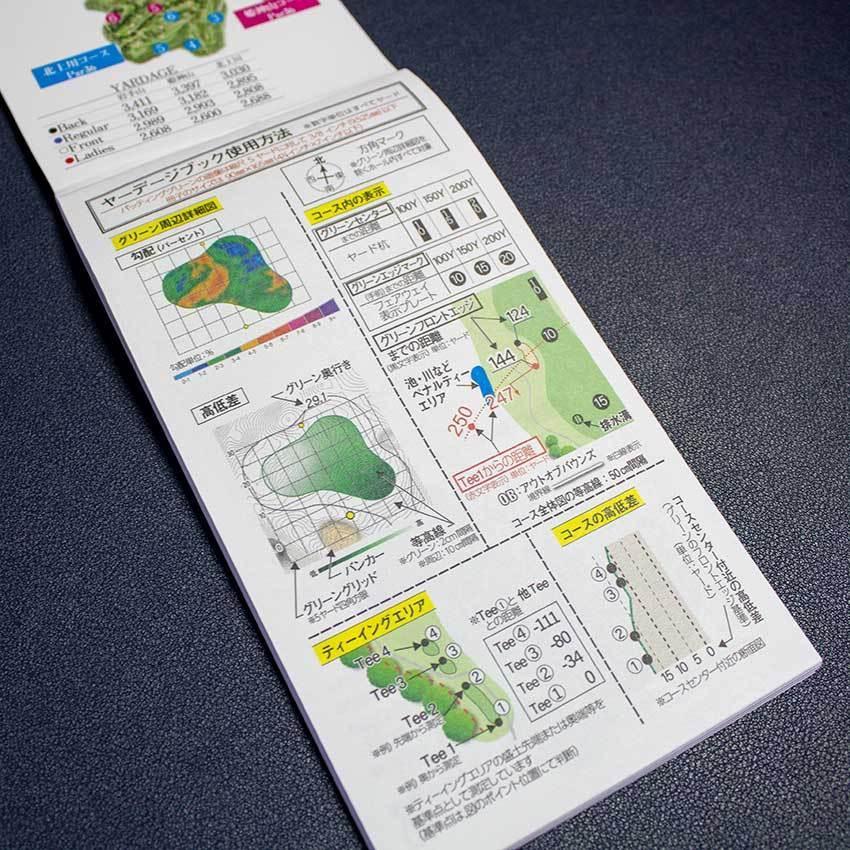 【送料込み】ヤーデージブック 南部富士カントリークラブ(岩手)2021モデル golfnavi 03