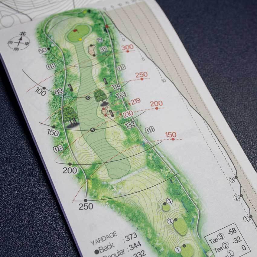 【送料込み】ヤーデージブック 南部富士カントリークラブ(岩手)2021モデル golfnavi 05