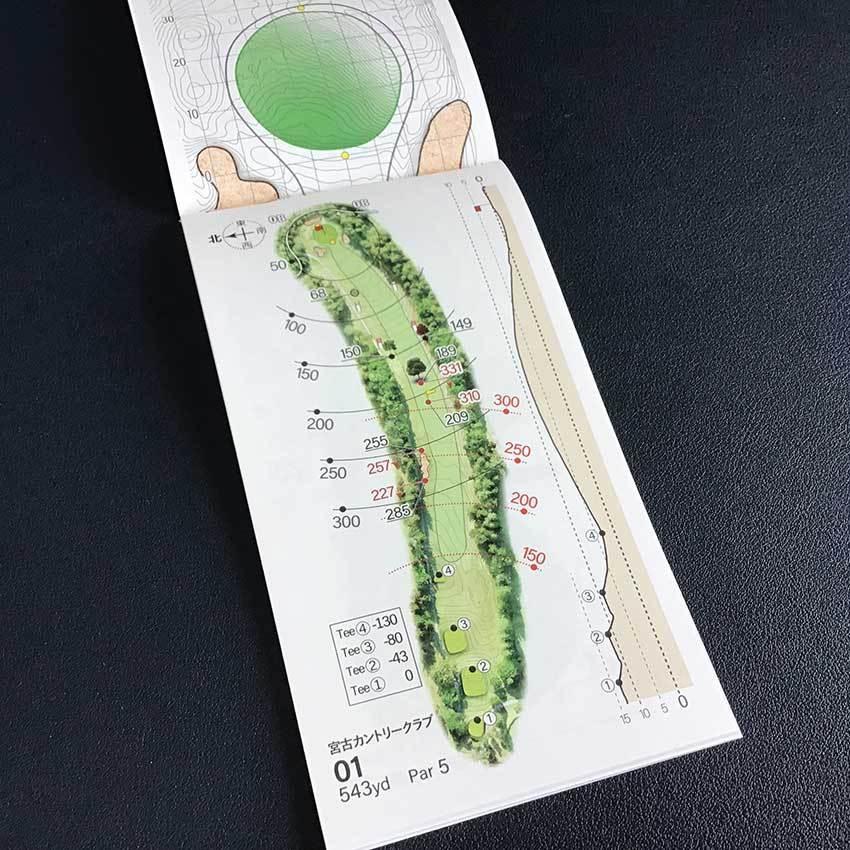 【送料込み】ヤーデージブック 宮古カントリークラブ(岩手)2021モデル golfnavi 04