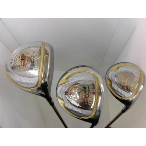 カタナゴルフ スウォード ソード クラブセット SWORD SNIPER 黒 13S(10.5°) CB付 フレックスR 中古 Cランク