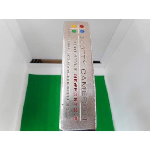 タイトリスト Titleist スコッティキャメロン スタジオスタイル ニューポート パター SCOTTY CAMERON STUDIO STYLE NEWPORT 2.5 330G 35イ 中古 Cランク