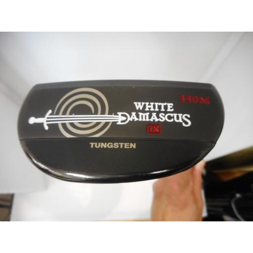 オデッセイ ホワイトダマスカス パター 白い DAMASCUS ix 330M 33インチ 中古 Cランク
