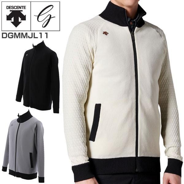 デサントゴルフ メンズ ゴルフウェア スマートパディング フルジップ ニット 中綿ジャケット DGMMJL11 M-XO