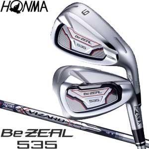 本間ゴルフ Be ZEAL 535 アイアン VIZARD for Be ZEAL シャフト 5本セット[#6-#10]