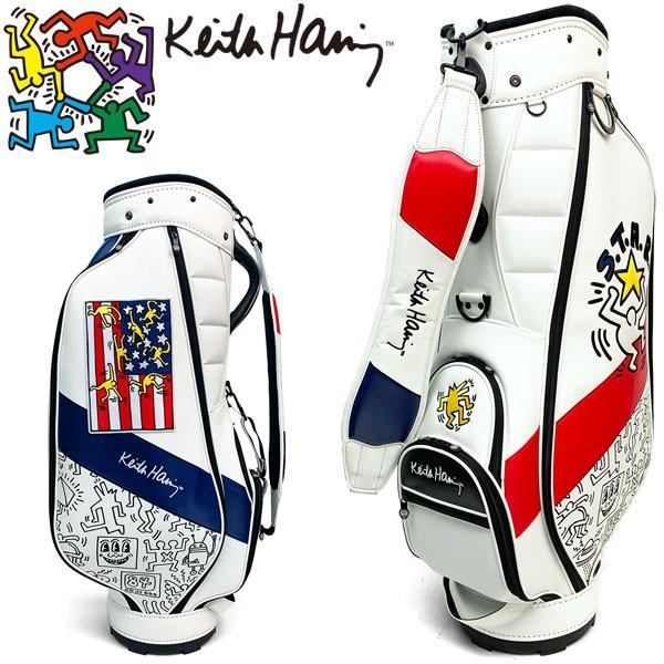 トミカチョウ 今なら7%OFFクーポン発行中 キースヘリング ゴルフ カート キャディバッグ カート American flag × KHCB-06 Pattern ゴルフ KHCB-06, バドミントン、テニスのイトスポ:abc8be2e --- airmodconsu.dominiotemporario.com