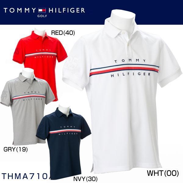 トミー ヒルフィガー ゴルフ GOLF メンズウエア トリコロール 半袖ポロシャツ THMA710 2017年春夏モデル