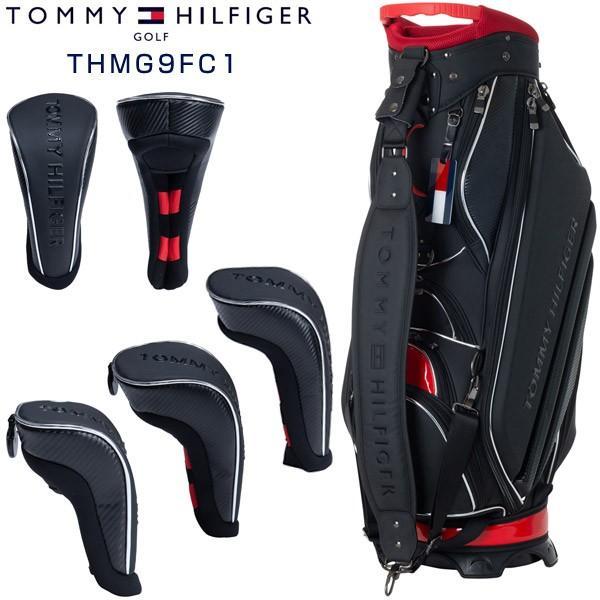 トミーヒルフィガー ゴルフ カーボーントーン キャディバッグ & ヘッドカバーセット THMG9FC1