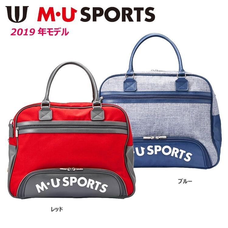 【2019年モデル】M・U SPORTS エムユースポーツ BOSTON BAG デニム風 ボストンバッグ 703P2204