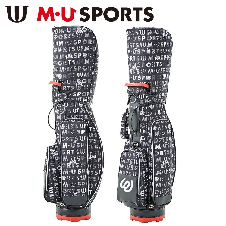 【2019年モデル】M・U SPORTS エムユースポーツ カラフル ロゴ プリント キャディバッグ ROGO PRINT CADDY BAG 703P1104S