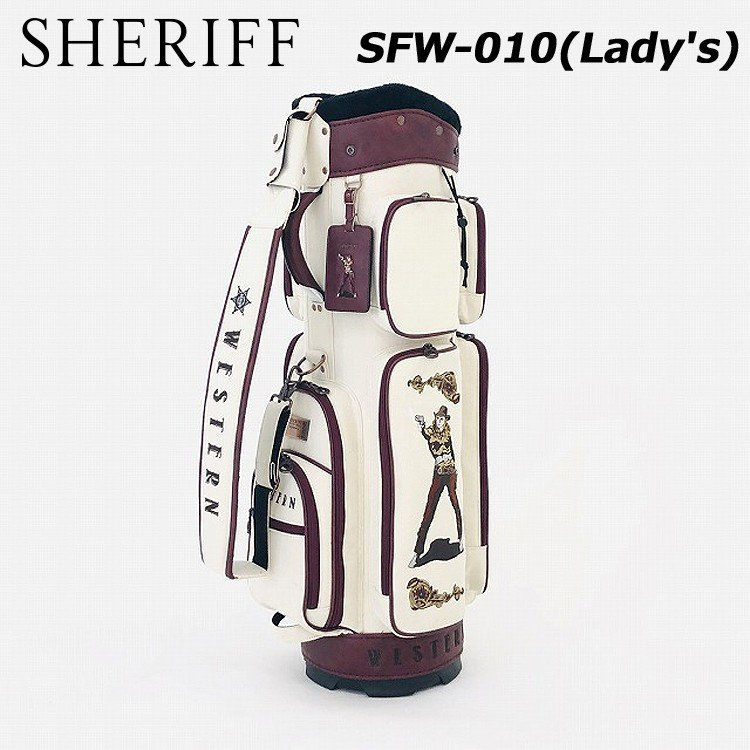 【 新品 】 シェリフ SHERIFF ウエスタンシリーズ Lady's キャディバッグ SFW-010, SSペイント eb8df37b