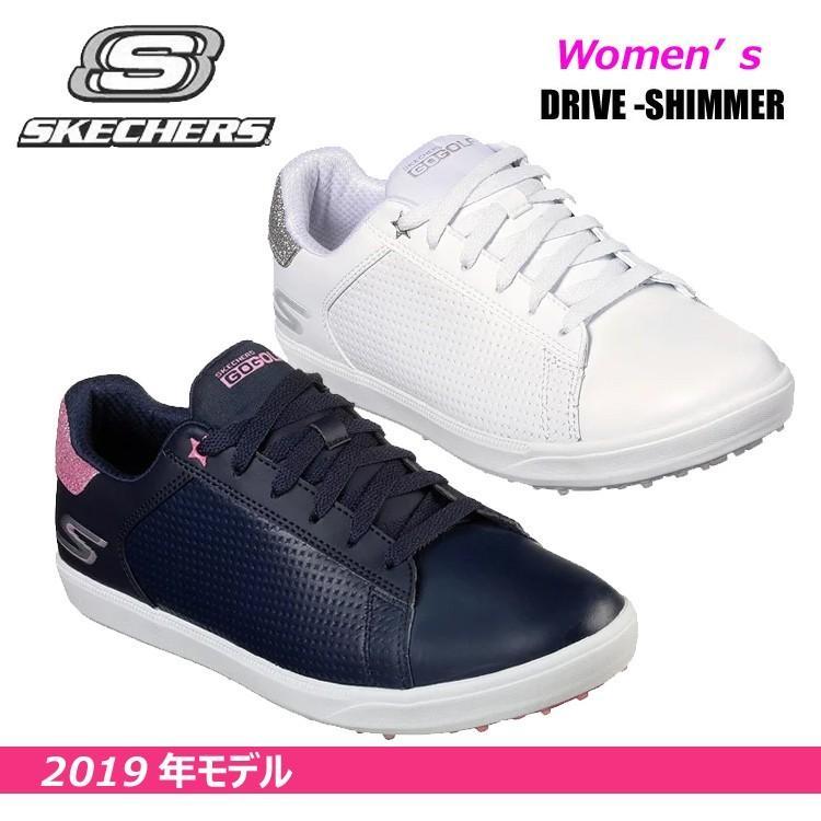 【2019年モデル】スケッチャーズ SKECHERS ゴルフシューズ DRIVE SHIMMER ドライブ サマー 防水 レディース 14882