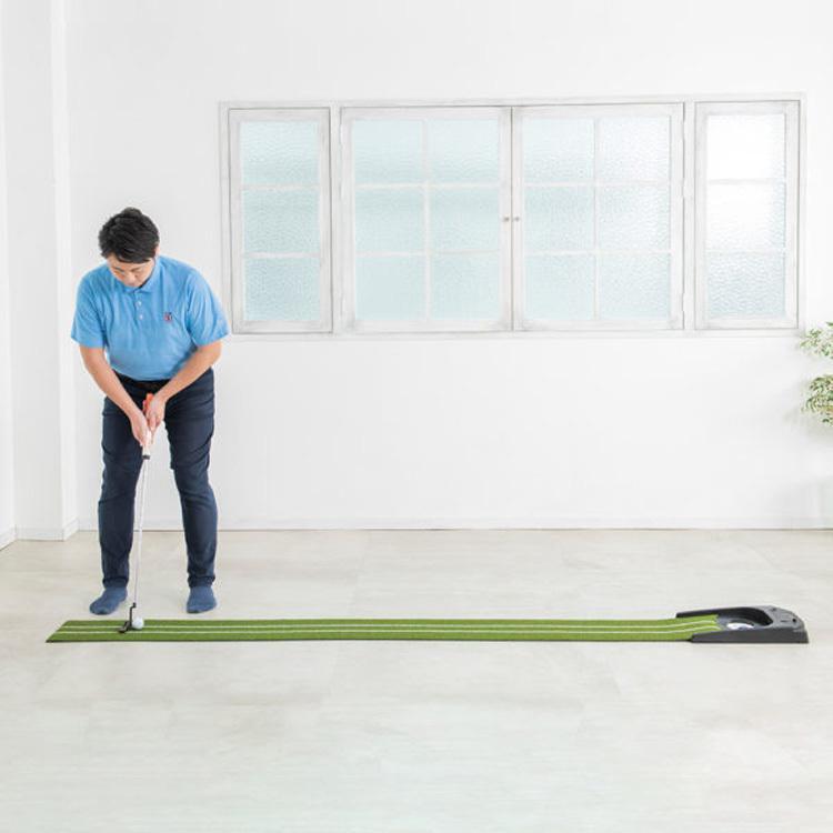 【在庫あり/即納】ダイヤゴルフ 2020モデル パター練習マット オートパットHD TR-478 静音オートリターン remt|golfshop-champ|07