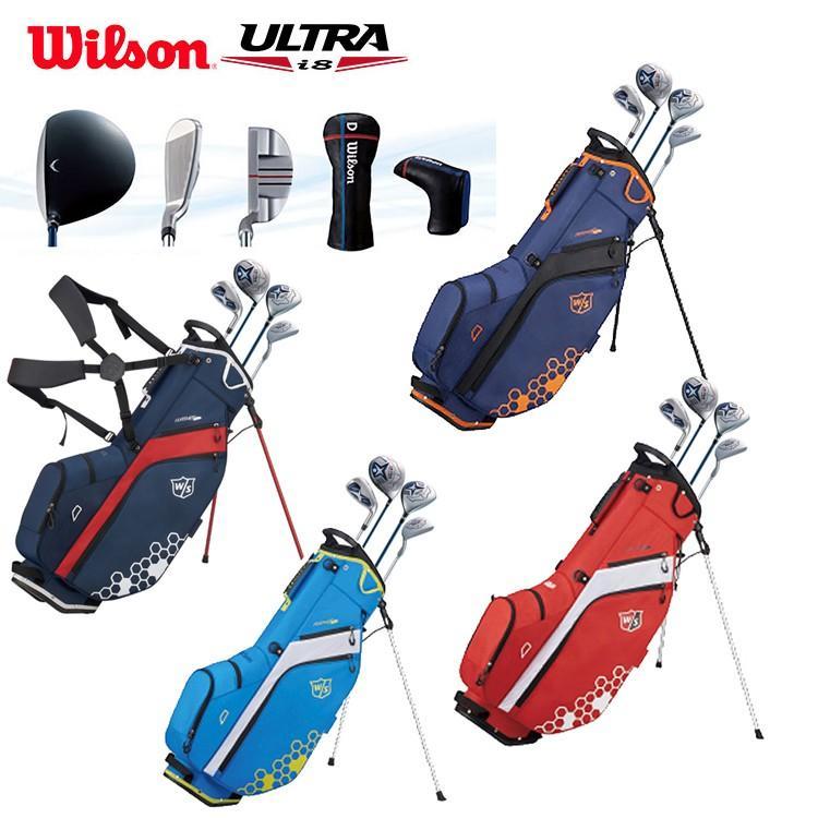 Wilson ウィルソン ULTRA i8 メンズクラブセット 9本セット(DR,5W,6-PW,SW,PT) キャディバッグ付き
