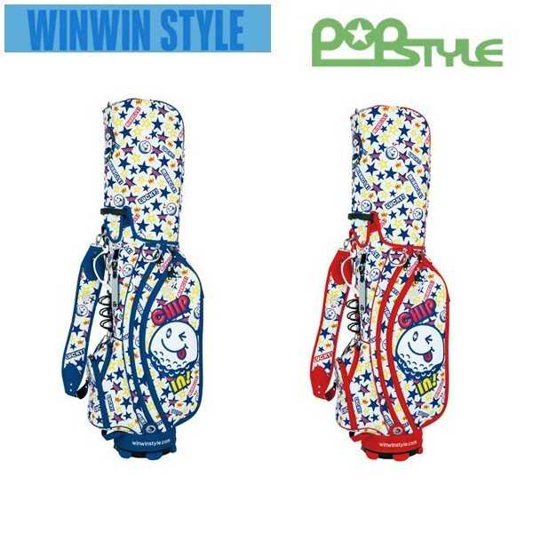 WINWIN STYLE ウィンウィンスタイル POP STYLE MIRACLE CHIP IN! CART BAG キャディバッグ 9型 47インチ対応