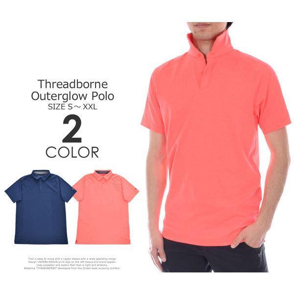 (在庫処分)アンダーアーマー UNDER ARMOUR ゴルフ スレッドボーン アウターグロー 半袖ポロシャツ 大きいサイズ USA直輸入