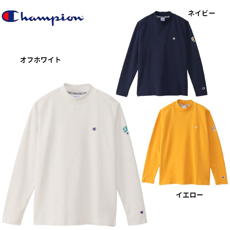 チャンピオン ゴルフ モックネック ロングスリーブ Tシャツ(C3-SG405) 2020秋冬 メンズ トップス|ゴルフギアサージ