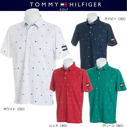 (セール)トミーヒルフィガー ゴルフ ノーチカル フラッグ 半袖ポロシャツ(THMA845)2018春夏モデル