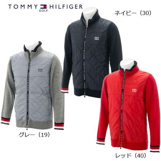 (セール)トミーヒルフィガー ゴルフ ケーブルセーター ジップアップジャケット(THMA8C5)2018秋冬
