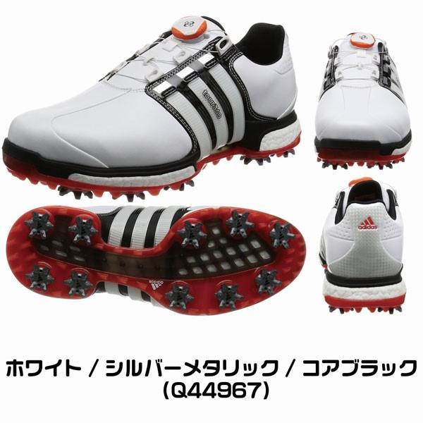 アディダス 【送料無料】 Q44967 メンズ (27.5cm/ホワイト×シルバーメタリック×コアブラック) ゴルフシューズ TOUR360 BOA BOOST X