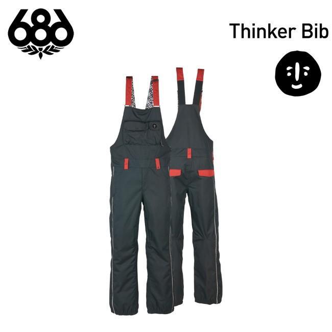 予約 ウェア ビブパンツ 686 SIX EIGHT SIX Thinker Bib MENS メンズ スノボ パンツ