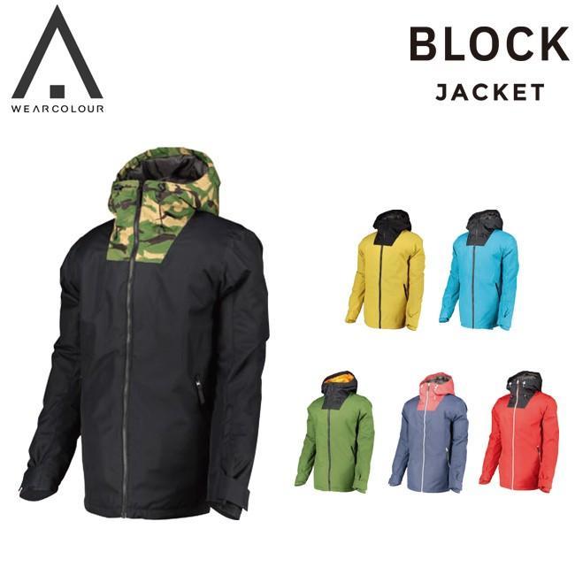 予約 カラーウェアー CLWR BLOCK Jacket COLOUR WEAR 19-20 メンズ スノーボード ジャケット スノボーウェア