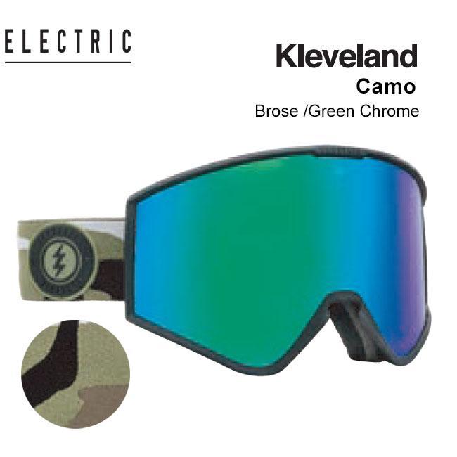 ゴーグル エレクトリック ELECTRIC KLEVELAND CAMO 19-20 クリーブランド JAPAN FIT エレク ゴーグル スノボ スキー