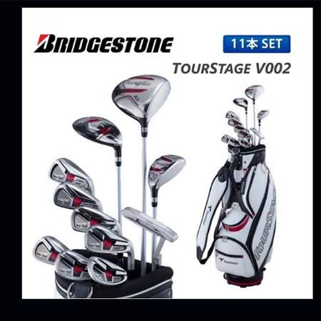 ブリヂストン ゴルフ ツアーステージ V002 クラブセット オリジナル カーボンシャフト/スチールシャフト カーボンシャフト/スチールシャフト カーボンシャフト/スチールシャフト キャディバッグ付き 4b2