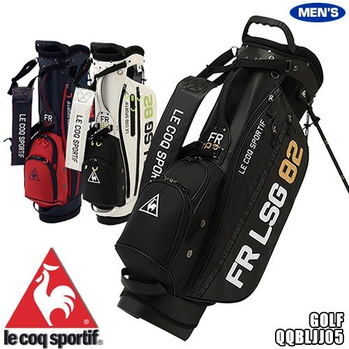 ルコック ゴルフ メンズ キャディバッグ 9.5型 スタンドバッグ 大口径 軽量モデル イニシャルロゴ QQBLJJ05