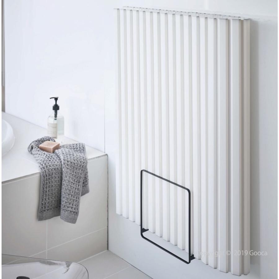 TOWER 乾きやすいマグネット風呂蓋スタンド マグネット バス収納  風呂ふた 乾燥 おしゃれ シンプル スリム 北欧 白 黒 タワー 山崎実業|goocafurniture|05