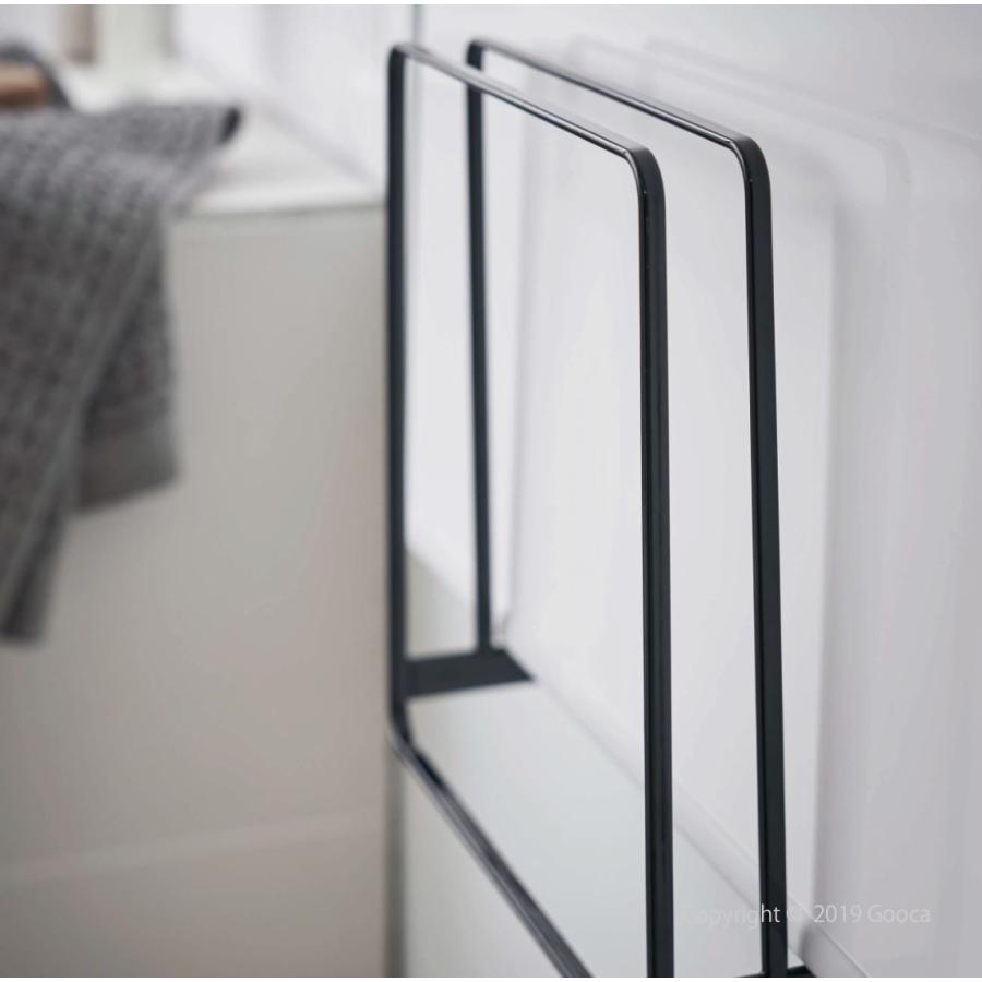 TOWER 乾きやすいマグネット風呂蓋スタンド マグネット バス収納  風呂ふた 乾燥 おしゃれ シンプル スリム 北欧 白 黒 タワー 山崎実業|goocafurniture|07