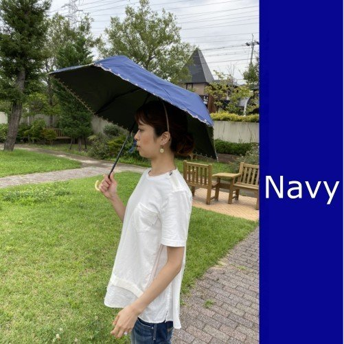 日傘 晴雨兼用 遮光 折りたたみ傘  超軽量 180g 遮熱 UVカット 100% 遮光 レディース かわいい スカラップ カット【ポイント消化】|good-eight|07