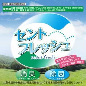 消臭 除菌 o-157 食中毒 安定化二酸化塩素製剤 セントフレッシュ 500ml+替え用ノズルサービス|good-smiley|02
