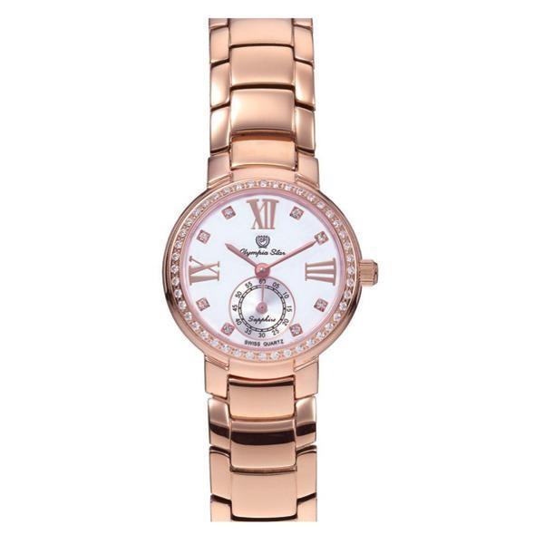 【最安値挑戦】 OLYMPIA STAR(オリンピア スター) レディース 腕時計 OP-28012DLR-5, アップルショップ大中2号店 256adf69