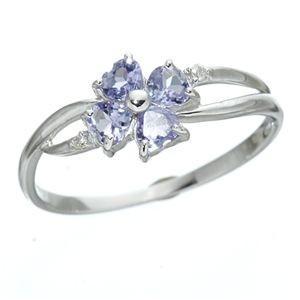 【 開梱 設置?無料 】 K18WG ハートシェイプ タンザナイトダイヤリング 指輪 9号, くつろぎ創造 5376d368