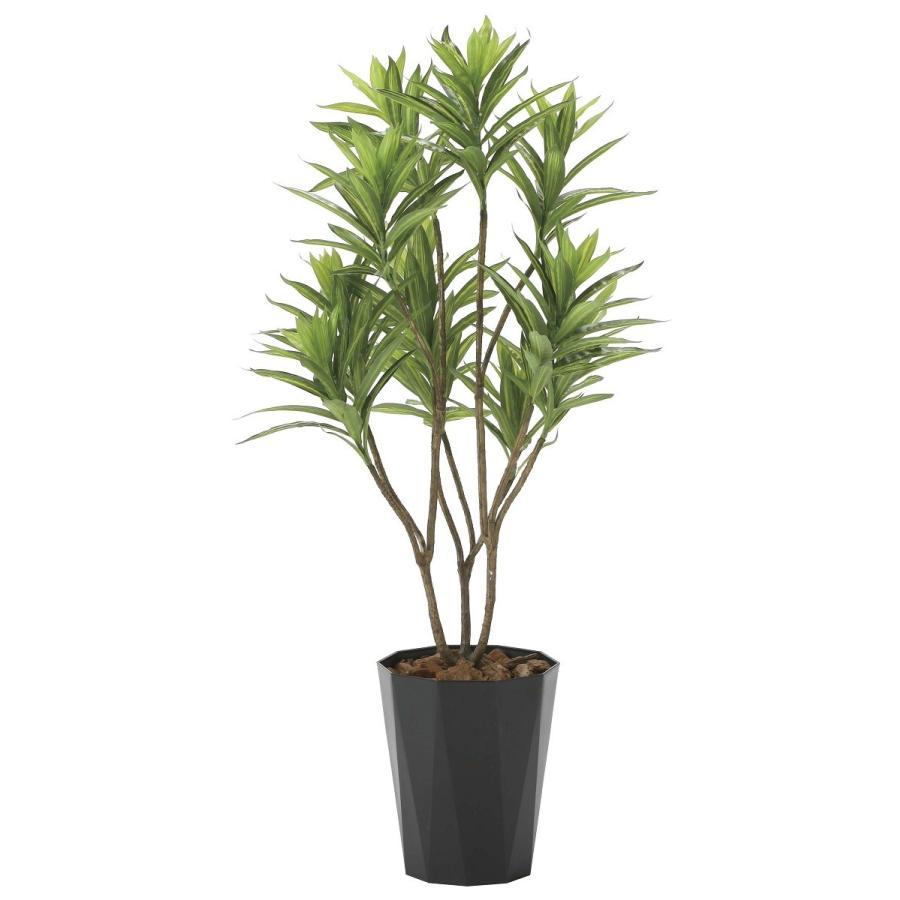 造花 観葉植物 「フレッシュ・ドラセナ 120cm」 光触媒 空気清浄 インテリア グリーン 38|goodfellow