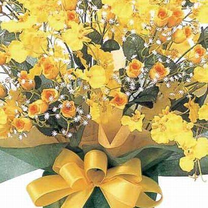 アートフラワー 光触媒 造花 アレンジ /ゴールドストライク 43A7063|goodfellow|02
