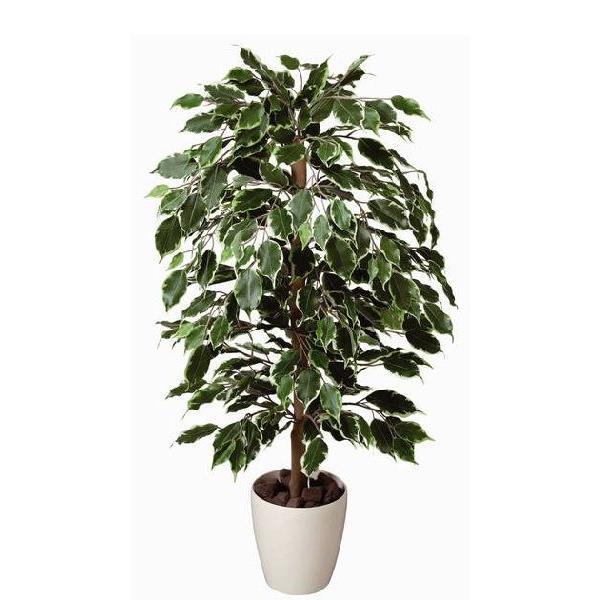 光触媒 観葉植物 鉢植え インテリアグリーン 造花 /ゴールデンフィカス 斑入り 100cm 202A15032 goodfellow