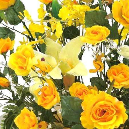 造花 アートフラワー アレンジ 光触媒(空気清浄) /ゴールドゲート 38A100-7317|goodfellow|02