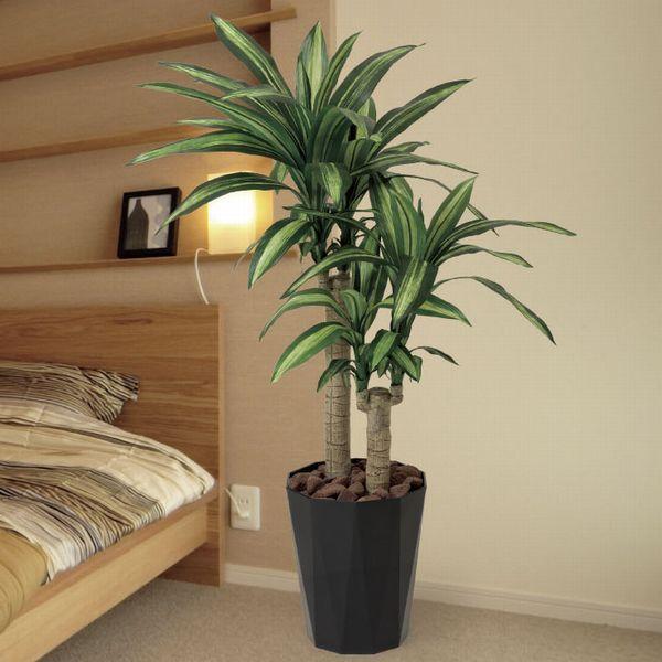 人工観葉植物 鉢植え インテリアグリーン 光触媒 造花 /幸福の木110cm|goodfellow
