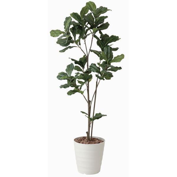 造花 観葉植物 光触媒 インテリアグリーン 鉢植え /カシワバゴム 180cm|goodfellow