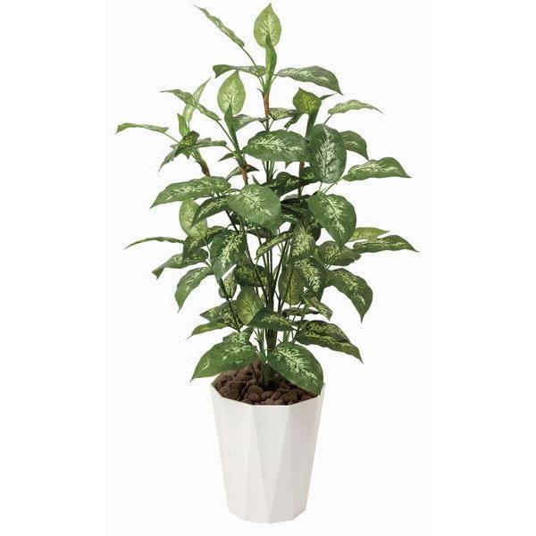 人工観葉植物 鉢植え インテリアグリーン 光触媒 造花 /ディフェンバキア110cm|goodfellow