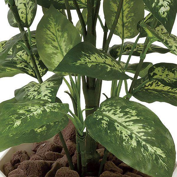 人工観葉植物 鉢植え インテリアグリーン 光触媒 造花 /ディフェンバキア110cm|goodfellow|02