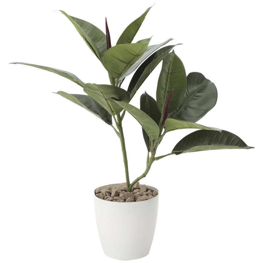 造花 観葉植物 「ゴムの木 47cm」 光触媒 空気清浄 インテリアグリーン 64 goodfellow