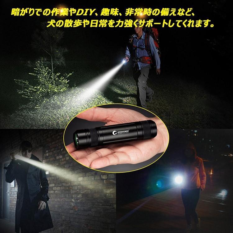 新発売SALE LED懐中電灯 ハンディライト 昼光色 小型  単4乾電池 18650型充電池兼用堅牢 アウトドア 登山 防災 応急一年保証ES-03G|goodgoods-2|08